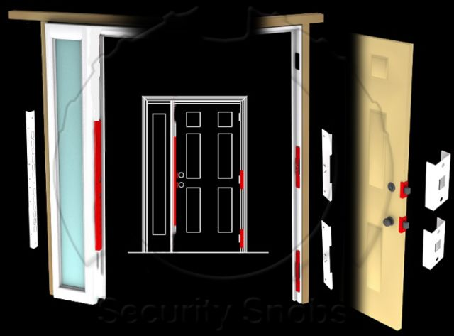 Swell Djarmor Gold Ezarmor Combo Kit For Side Light Doors Door Largest Home Design Picture Inspirations Pitcheantrous
