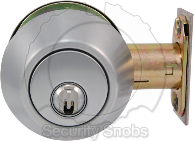 BiLock Double Cylinder Deadbolt Outside Face