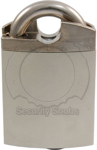 EVVA MCS Shrouded Padlock Front View