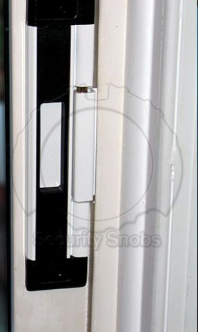 DJA Sliding Door Security Latch Installed and Locked