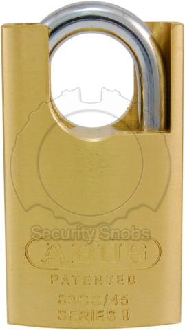 ABUS 83CS-45 Shrouded Padlock Front View