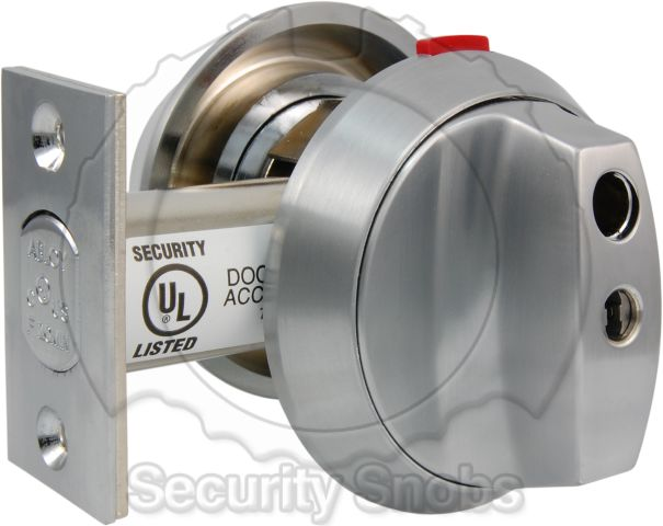 Abloy Lockable Thumbturn Deadbolt with Thumbturn Locked and Hole Cover Removed