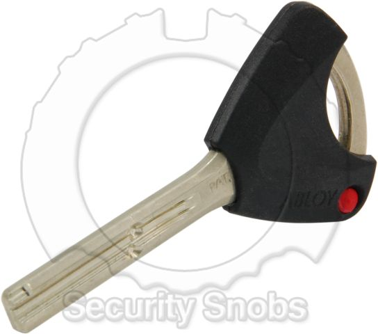 Abloy Key With Key Bow Profile View