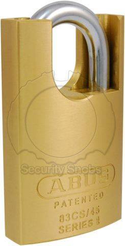 ABUS Brass Shrouded Padlock with BiLock or Abloy Protec2 Core