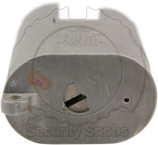 Sargent & Greenleaf 833 Padlock Keyway and Anti-Drill Plate