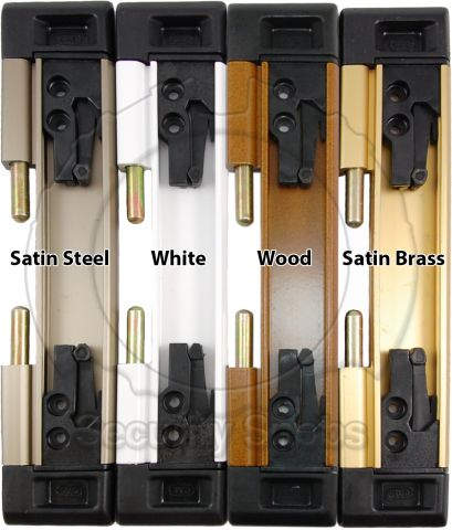 DJA Sliding Door Security Latch Color Comparison