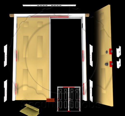 Djarmor Gold Ezarmor Combo Kit For Double Doors Door