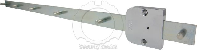 Abloy Furniture Lock with Central Locking Bar Rear View
