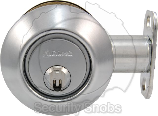 BiLock Grade 1 Single Cylinder Deadbolt Exterior