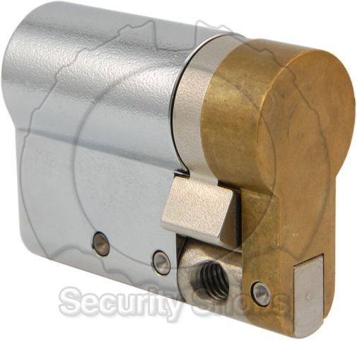 Abloy Hardened Steel Euro Profile Single/Half Cylinder Rear Profile View