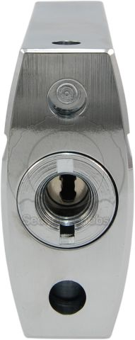 Abloy PL342 Shrouded Padlock Keyway and Drainage Holes