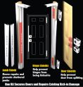 DJArmor Platinum Jamb Armor Combo Kit for Standard Doors