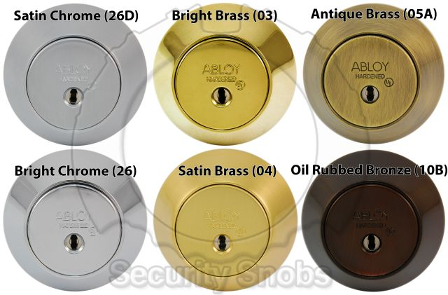 Abloy Deadbolt Finishes