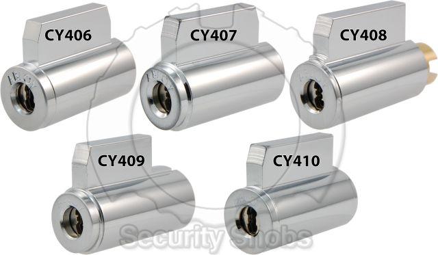 Abloy KIK Cylinder Front Comparison