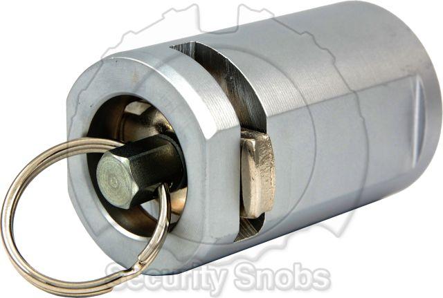 Abloy Key Tube Plug Rear View with Key Ring