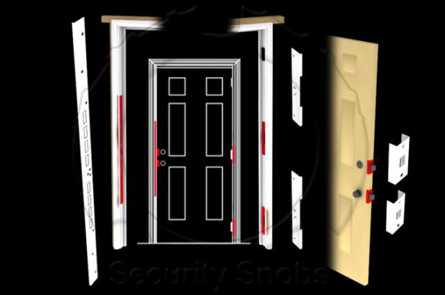 DJArmor Gold EZArmor Combo Kit for Standard Doors