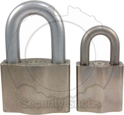 Environmental Padlock Size Comparison